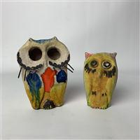 Sale 8725A - Lot 6 - Two 1960s Italian pottery Owls by Ivo De Santis for Gli Etruschi. Height of taller 20cm