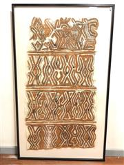 Sale 8732W - Lot 29 - Tapa Cloth (in frame)