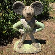 Sale 8878T - Lot 64 - Vintage Naive Mickey Mouse Garden Statue  Repaired to Legs  Height - 59cm