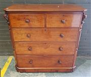 Sale 8956 - Lot 1059 - Good Victorian Mahogany Chest of Five Drawers the canted corners with corbels - slight staining to top (H:121 x W:122 x D:52cm)
