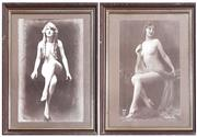 Sale 9011 - Lot 2077 - Pair of Reproduction Early Erotic Photographs,  51 x 41cm -