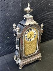 Sale 9048 - Lot 1049 - Good Napoleon III Ebonised Boulle Mantle Clock in the Louis XIV Style, marked Miroy Freres, Paris with the two train movement by Vin...