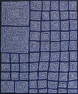 Sale 9098A - Lot 5075 - Thomas Tjapaltjarri (c1964 - ) - Tingari 98 x 81 cm (stretched and ready to hang)
