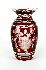 Sale 3803 - Lot 486 - A LARGE RUBY FLASH GLASS VASE