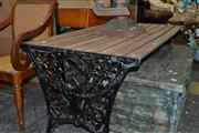 Sale 8013 - Lot 1417 - Outdoor Timber Slate Table