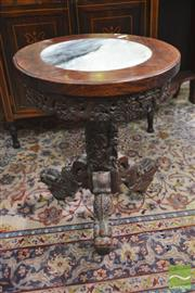 Sale 8273 - Lot 95 - Chinese Marble Inset Table