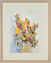 Sale 8349A - Lot 98 - Essie Nangle (1915 - 2006) - Floral Arrangement 37 x 27cm