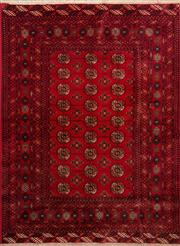 Sale 8379A - Lot 5 - A hand knotted Afghan Mori Gul carpet, 190cm x 128cm