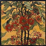 Sale 8497A - Lot 5013 - Margaret Preston (1875 - 1963) - Wheel Flowers 36.5 x 36.5cm (frame size: 57 x 57cm)