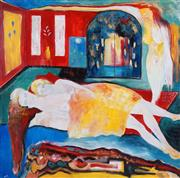 Sale 8506 - Lot 2073 - Alex Rantzos (XX) (3 works) - The Three Lovers; Dreamscapes (2) 121.5 x 121.5cm (2); 117 x 137cm