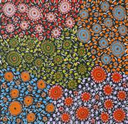 Sale 8475 - Lot 581 - Naomi Price Pitjara (XX - ) - Bush Yam Dreaming 90 x 96cm