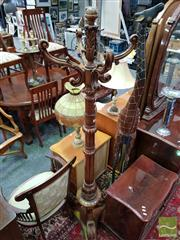 Sale 8465 - Lot 1041 - Carved Timber Coat Stand