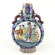 Sale 8545N - Lot 63 - Chinese Two Handled Moon Flask Vase (H: 40cm)