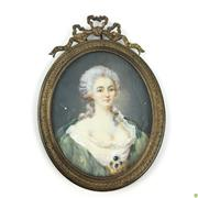 Sale 8562R - Lot 71 - Gilt Bronze Frame Miniature (H: 15cm)