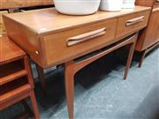 Sale 8741 - Lot 1029 - G Plan Console Table with 2 Drawers