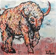 Sale 8853A - Lot 5038 - Yosi Messiah - Fire Bull 102 x 102cm