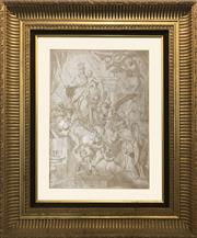 Sale 8912H - Lot 68 - In the manner of Domineco Piola (1627-1703, Italian) Ascension of Mary and the Christ Child Ascension of Mary and the Ch...