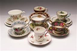 Sale 9098 - Lot 218 - Collection of trios and duos (7) incl. Shelley, Wedgwood and Royal Albert