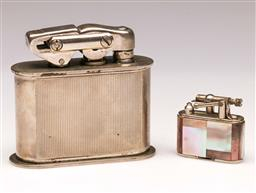 Sale 9119 - Lot 124 - A Karl Wieden vintage cast metal table lighter, with another pocket example,