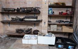 Sale 9191W - Lot 764 - A collection of car related items including parts and tools