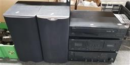 Sale 9176 - Lot 2207 - Collection of Yamaha Hi-Fi together with a pair of B&W speakers