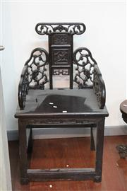 Sale 8273 - Lot 94 - Chinese Carved Dragon Chair