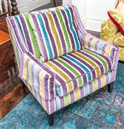 Sale 8298 - Lot 44 - A Beco armchair in Zepel Stamina Patriot fabric with cushion 90 x 65 x 90cm