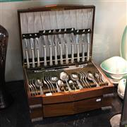 Sale 8300 - Lot 78 - Angora Silver Plated Cutlery Settings Missing 3 Teaspoons (2)