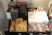 Sale 8362 - Lot 272 - Two Trays Of Cigar Related Paraphernalia Incl. Cutters & Cases Together With Pocket Knives