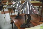 Sale 8418 - Lot 1049 - Pair of Boy on the Moon Table Lamps