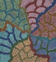 Sale 8459 - Lot 511 - Naomi Price Pitjara (XX - ) - Bush Yam Dreaming 106 x 95cm