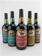 Sale 8514W - Lot 82 - 5x 1977 St Hallett Cup Winner Series Vintage Port, Barossa Valley - full set for 1980