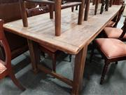 Sale 8700 - Lot 1046 - Rustic Timber Country Style Dining Table (H: 77 L: 250 W: 80cm)