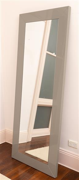 Sale 9150H - Lot 185 - A grey free standing mirror, Height 180cm x Width 70cm x Depth 4cm