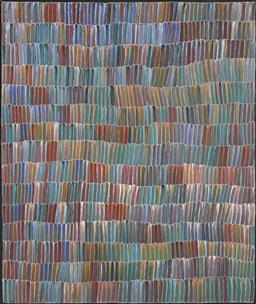Sale 9171A - Lot 5087 - JEANNIE MILLS PWERLE (1965 - ) Bush Yam Dreaming acrylic on canvas 113 x 95 cm (stretched and ready to hang) signed verso, certifica...