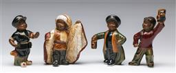 Sale 9175 - Lot 227 - Set Of Four Pottery Chinese Cultural Revolution Figures With Studio Factory Stamp To Base (Height Of Tallest 15cm)