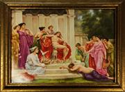 Sale 8065 - Lot 60 - KPM Porcelain Plaque Psyche at Court of Venus by Wagner