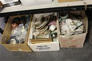 Sale 8169 - Lot 2249 - 3 Box of Sundries incl. Tins, Ceramics, Glasswares, etc