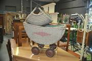 Sale 8331 - Lot 1335 - Wicker Dolls Pram