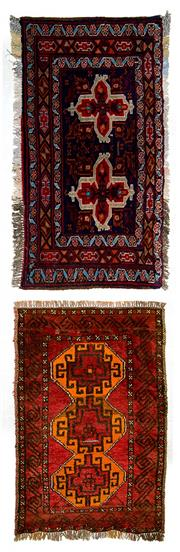 Sale 8418C - Lot 22 - 2 x Persian Door Mats 90cm x 60cm