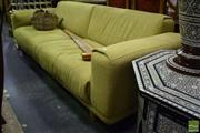 Sale 8542 - Lot 1023 - Green Upholstered Three Seater Sofa