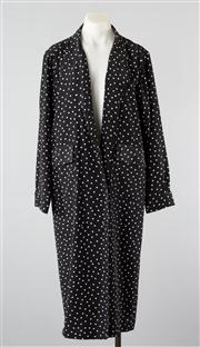 Sale 8740F - Lot 53 - A double breasted vintage Trent Nathan polka dot coat, size 10