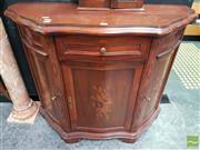 Sale 8465 - Lot 1002 - Inlaid Timber Serpentine Front Cabinet