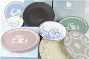 Sale 8604W - Lot 97 - Oval Jasperware Plates And Others (9)