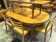 Sale 8643 - Lot 1071A - G Plan Teak Extending Dining Table with a Set of 6 G Plan Chairs