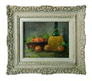 Sale 8888H - Lot 11 - Fernand Lienaux 1897-1980 French Kitchen still life canvas on board signed. -24 x 30 cm