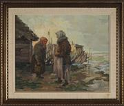 Sale 8945 - Lot 2040 - Juhan (Johannes) Schroder (C20th) - Old Friends, 1946 42.5 x 52 cm (frame: 60 x 69 x 4 cm)
