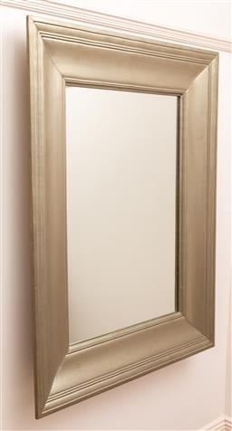 Sale 9150H - Lot 187 - A pewter effect timber framed mirror 130cm x 100cm