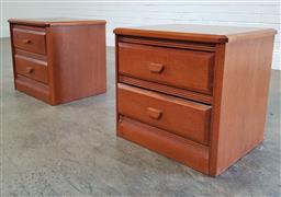Sale 9188 - Lot 1389 - Pair of Berryman bedsides with two drawers (h73 x w56 x d46cm)
