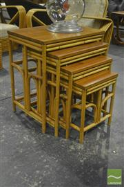 Sale 8287 - Lot 1058 - Nest of Four Pretzel Side Tables